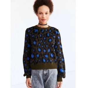 Urban Outfitters ecoté leopard print sweater